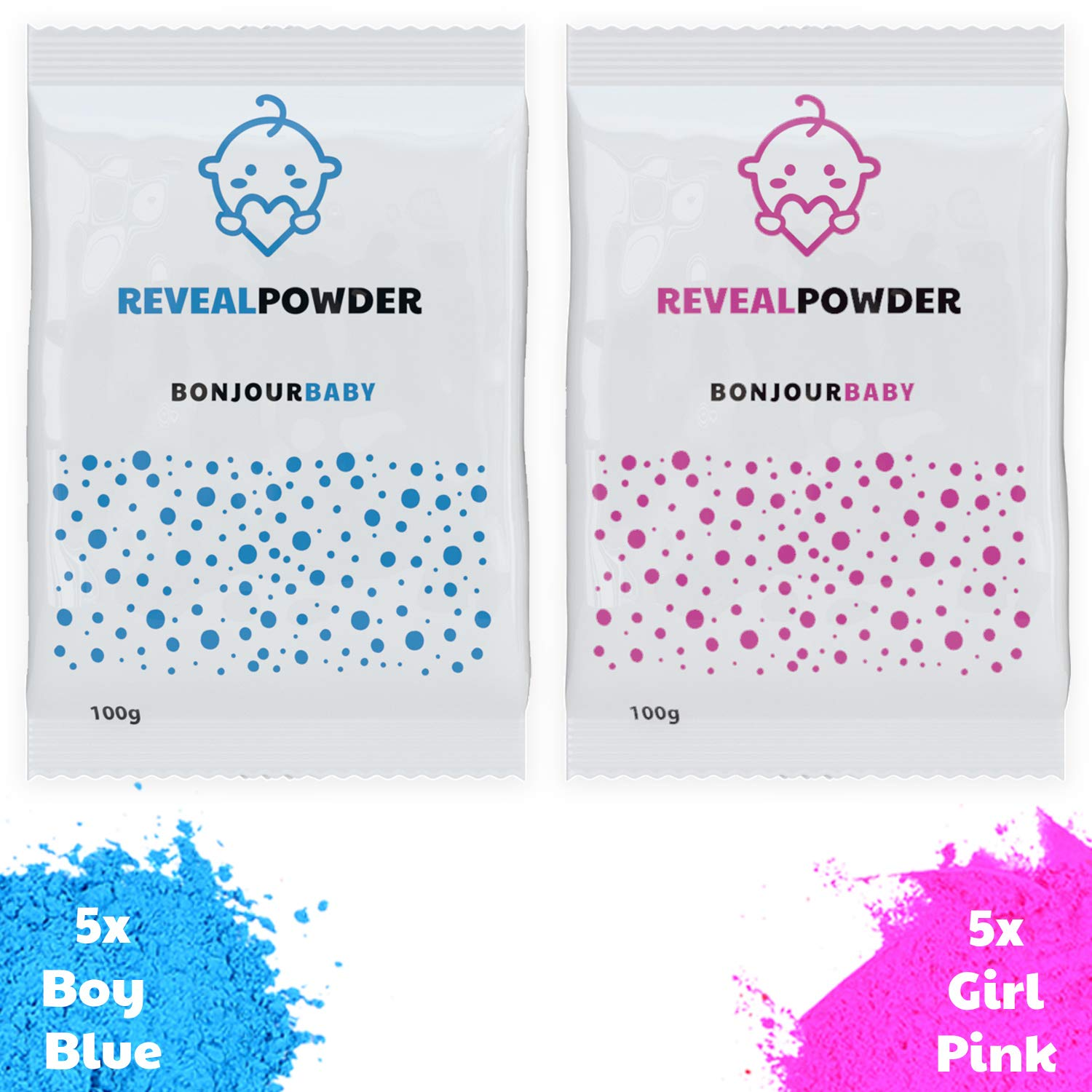a971b058c14dd Amazon.com: Gender Reveal Color Powder (Blue and Pink) - 10 Pack: Health &  Personal Care
