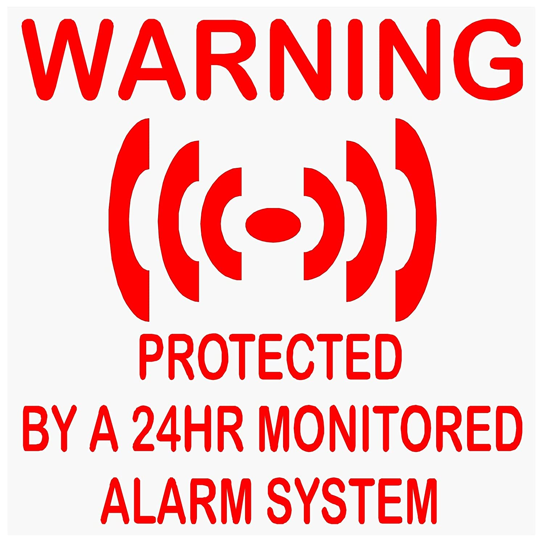 6 pegatinas de vinilo autoadhesivas para sistemas de alarma ...