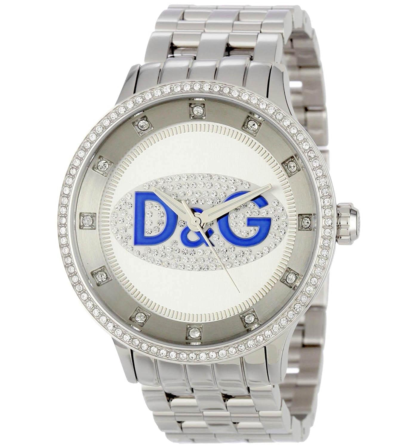 D&G watch Dolce Gabbana Prime Time small Dw0145 46 mm blue Logo and:  Amazon.co.uk: Watches