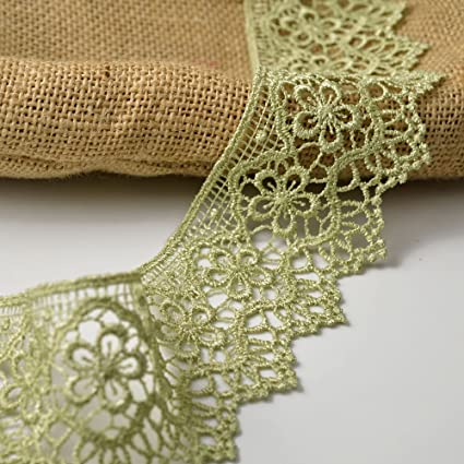 price for 1 yard 2  1//2  inch wide Gold color Venise  Lace Trim