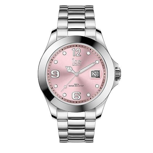 Ice-Watch Reloj Analógico para Mujer de Cuarzo con Correa en Acero Inoxidable 16892: Amazon.es: Relojes