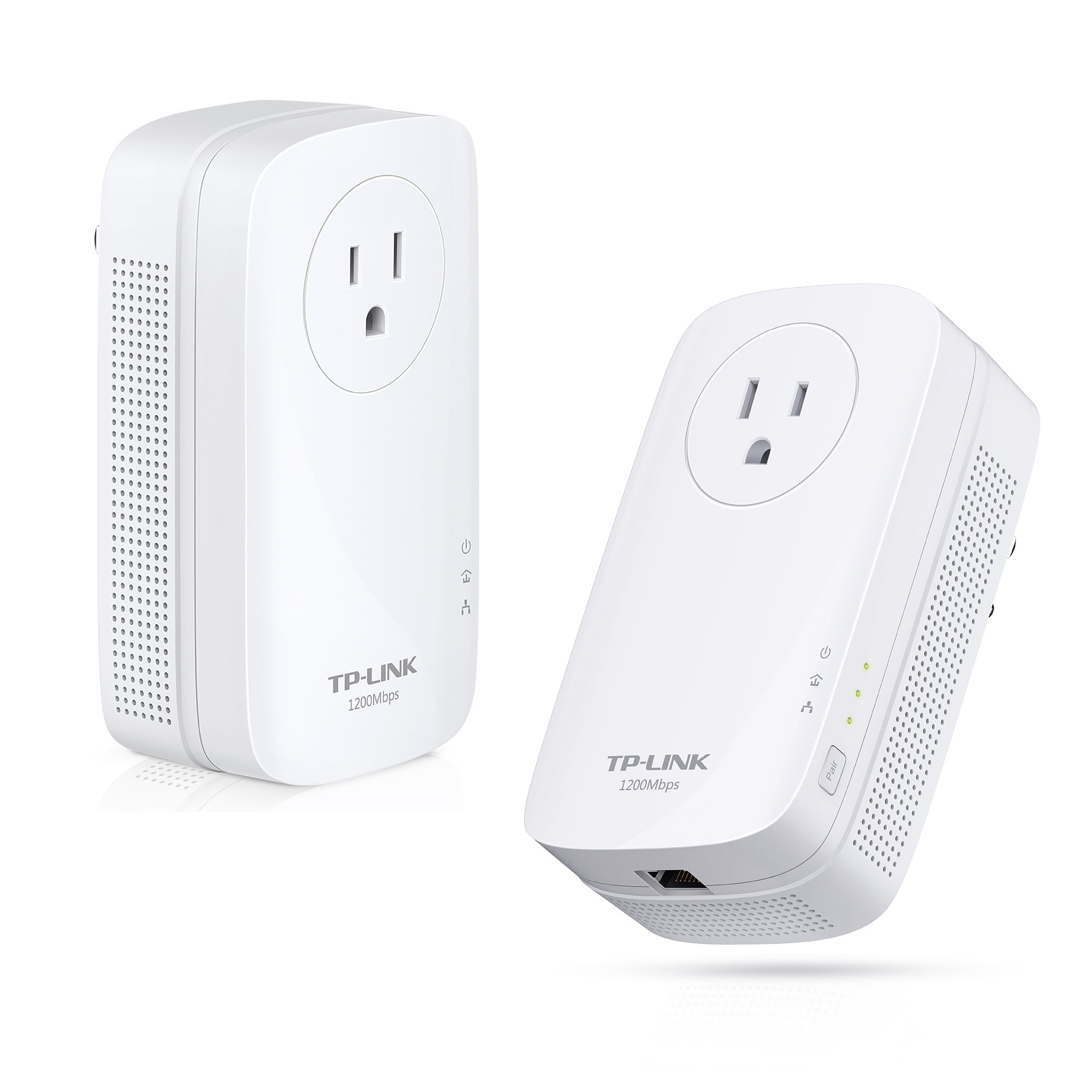 TP-Link AV1200 Gigabit Powerline ethernet Adapter, Power Outlet Pass-through, Powerline speeds Up to 1200Mbps (TL-PA8010P KIT)