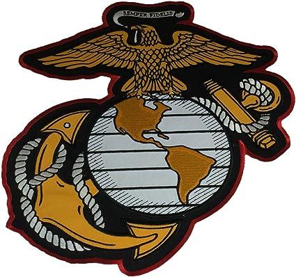 "MARINE CORPS USMC PATCH LOGO SEMPER FI XLG BRAND NEW 8/"" IRON-ON"