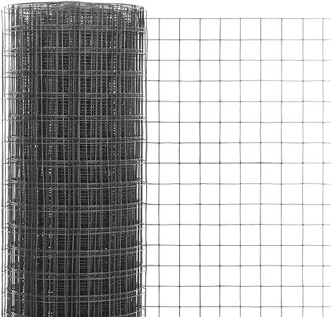Festnight Malla de Alambre para Jardin de Acero Recubrimiento PVC con Mallas Cuadradas 10 x 1 m Gris: Amazon.es: Hogar