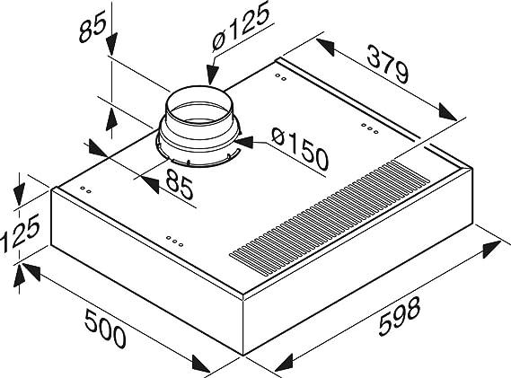 Miele DA 1160 - Campana (Canalizado/Recirculación, 500 m³/h, 200 m³/h, Integrado, Halógeno, Acero inoxidable): Amazon.es: Hogar
