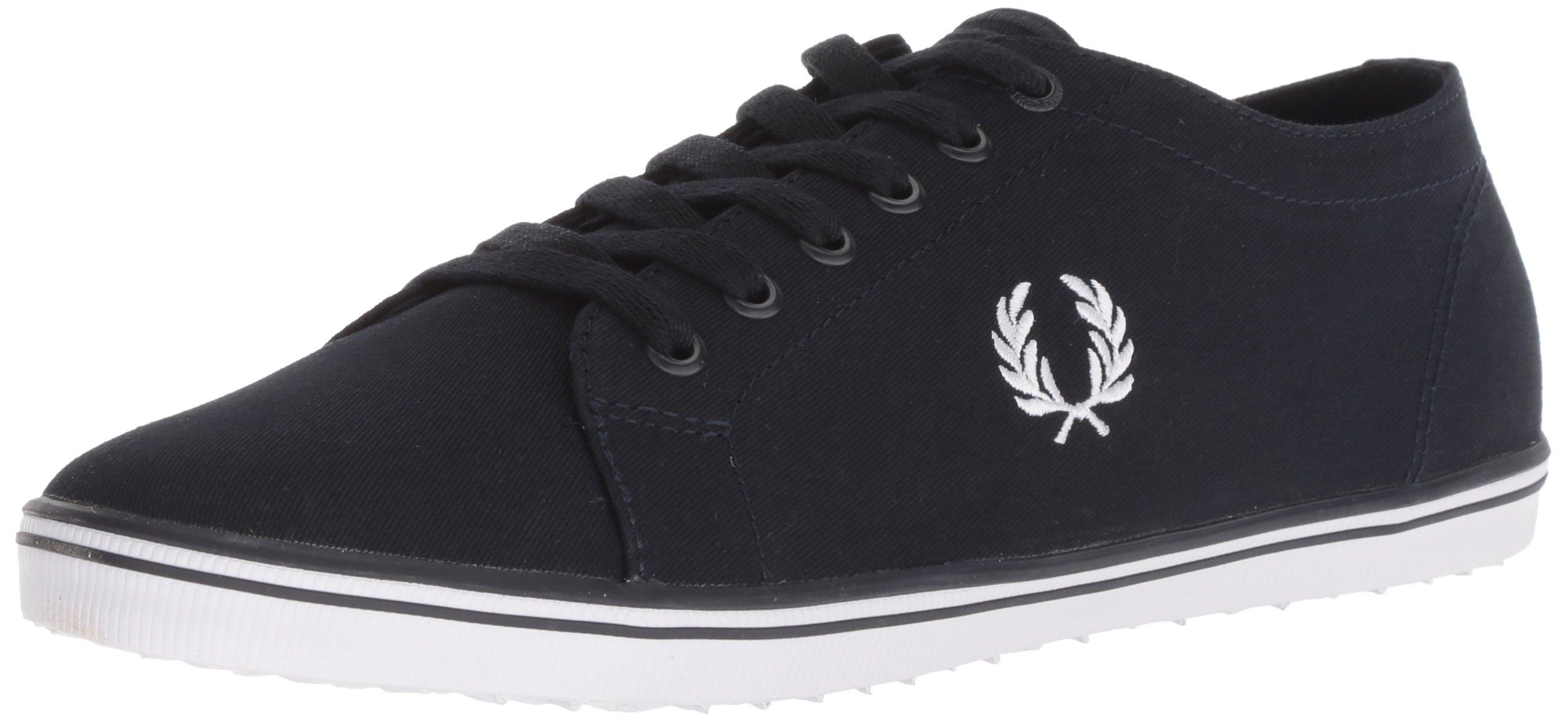 Fred Perry Men's Kingston Twill Sneaker, Navy, 9 D UK (10 US)