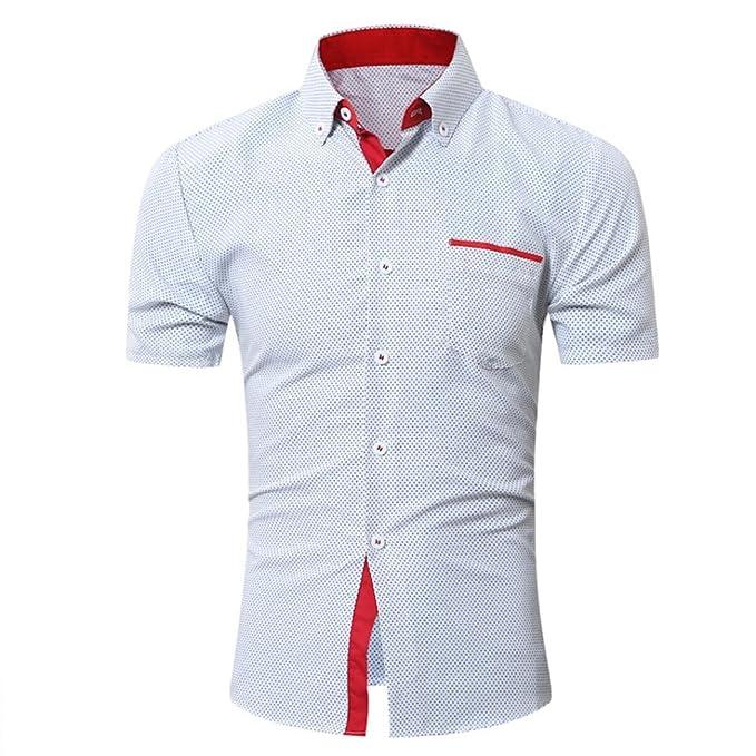 77e6df922d8b Oyedens T-Shirt Uomo Moda Maglietta della Manica Corta Shirt Casual Tops Estate  Slim Fit Business ...