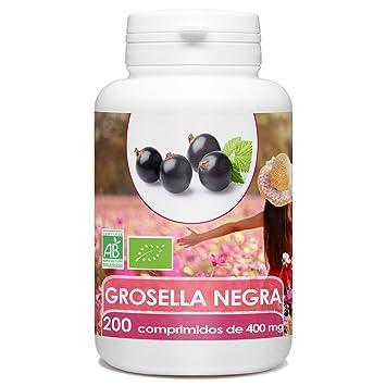 Grosella Negra Bio 400mg - 200 comprimidos: Amazon.es: Salud y cuidado personal