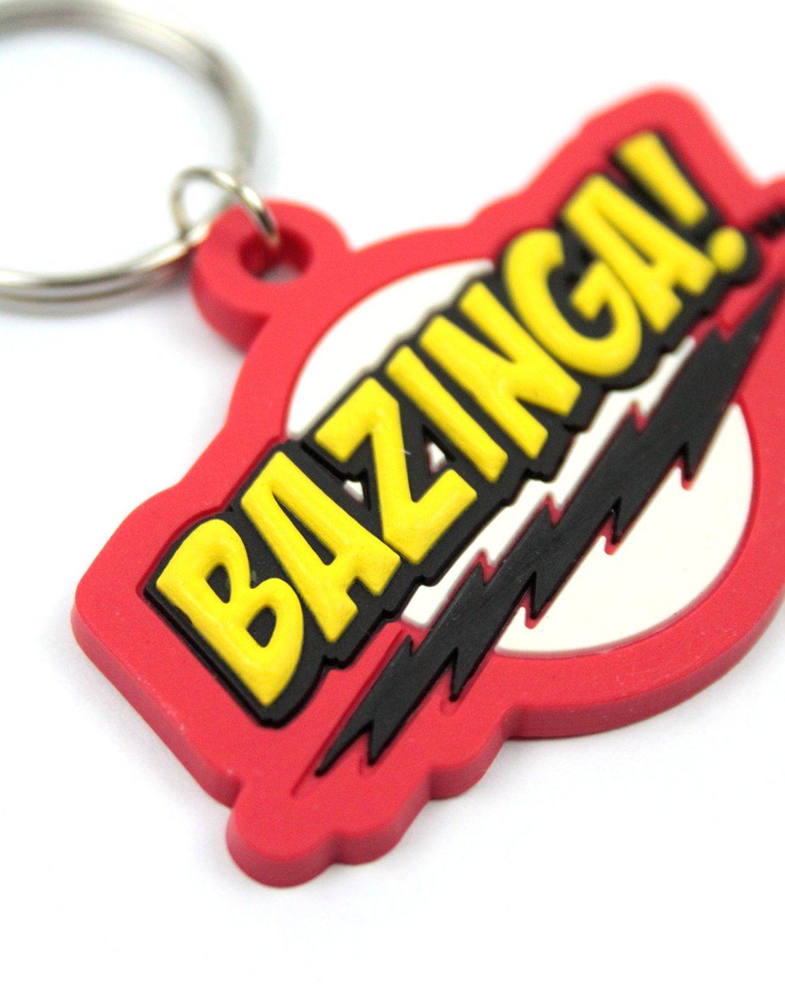 Official Big Bang Theory Bazinga Keyring: Amazon.co.uk: Office Products
