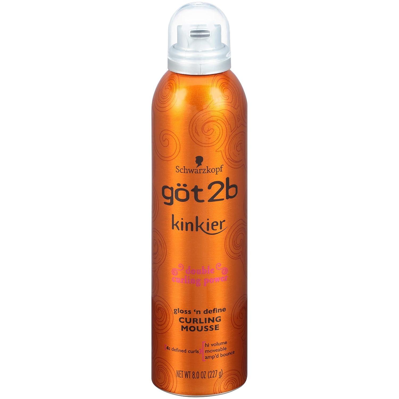got2b Kinkier Gloss 'n Define Curling Mousse, 8 ounce : Hair Styling Mousses : Beauty