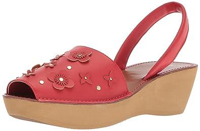 98028c0901ec Kenneth Cole REACTION Women s Fine Glass Floral Wedge Backstrap Sandal