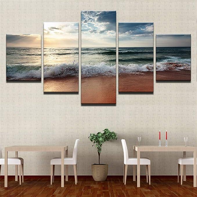 Pintura HD Moderno Modular Art Print 5 Piece Image Home Decor Wall Art Poster único (sin Marco),Combinación de Paisaje 13 núcleo de Pintura 20x35cmx2 20x45cmx2 20x55cmx1: Amazon.es: Hogar