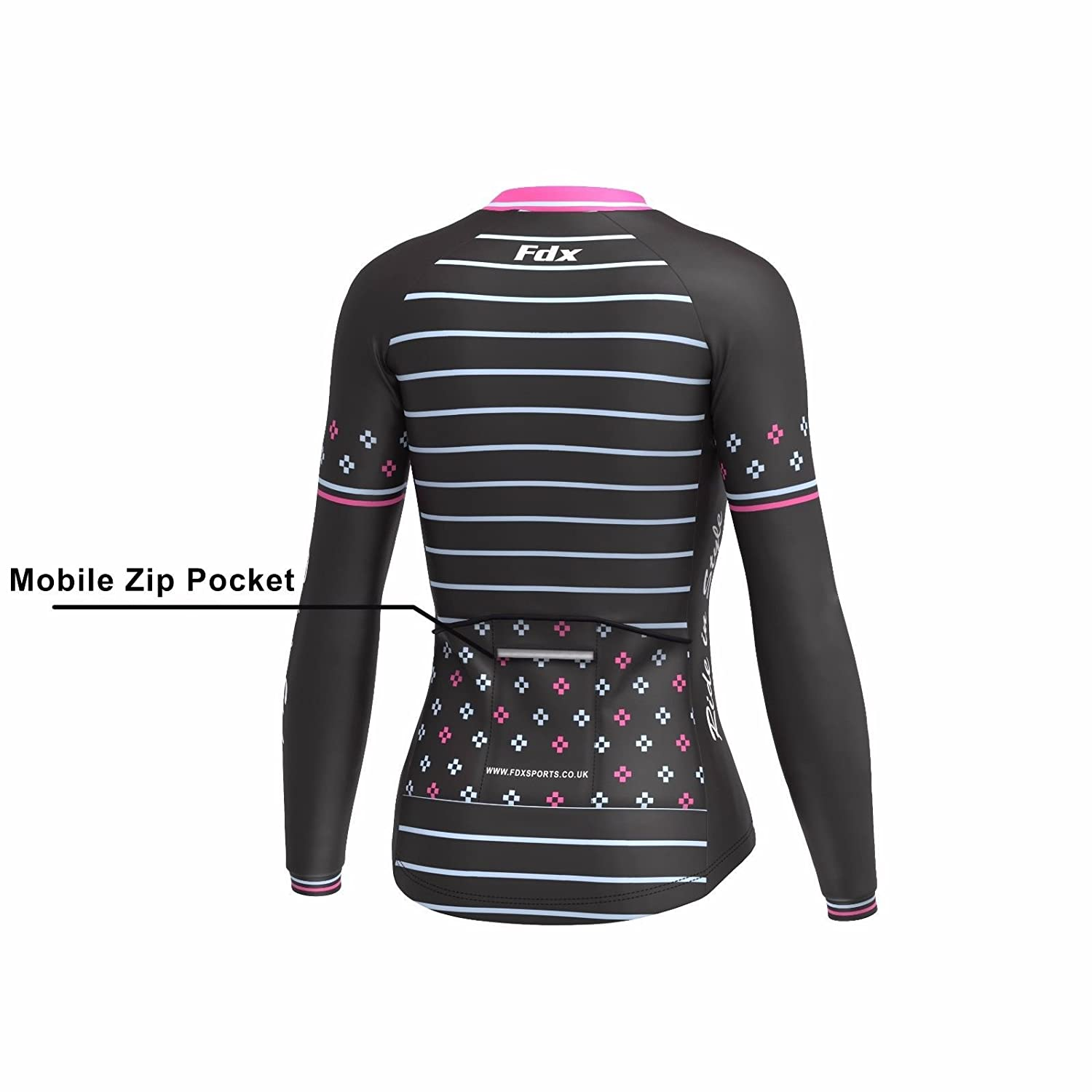 FDX Womens Limited Edition Cycling Jersey Roubaix Thermal Top Cycling Jacket