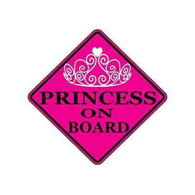Rogue River Tactical Pink Princess On Board Sticker Car Window Decal Bumper for Girl Daughter Vehicle Safety Sticker Sign for Car Truck SUV (1): Automotive [5Bkhe0101064]