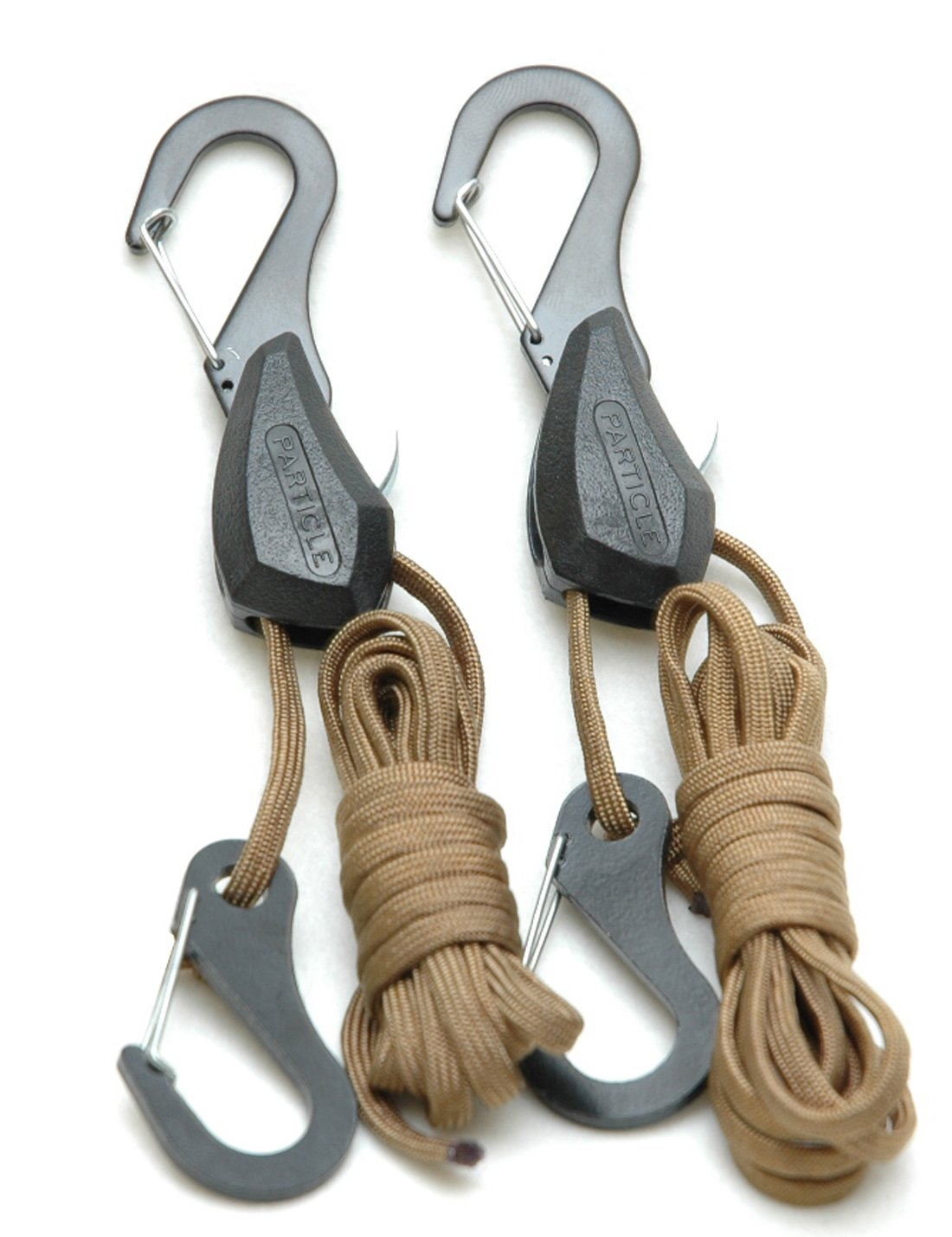 PROGRIP 054020 Particle by Symbiote 550 Paracord Rope Lock Tie Down with Snap Hooks 6 ft Pack of 2
