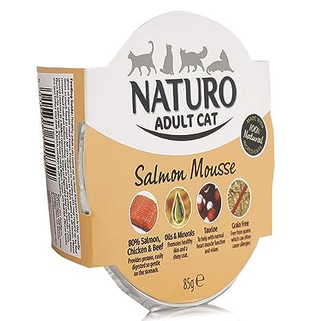 Naturo Comida Húmeda para Gatos Cat Mousse Salmon 85 gr