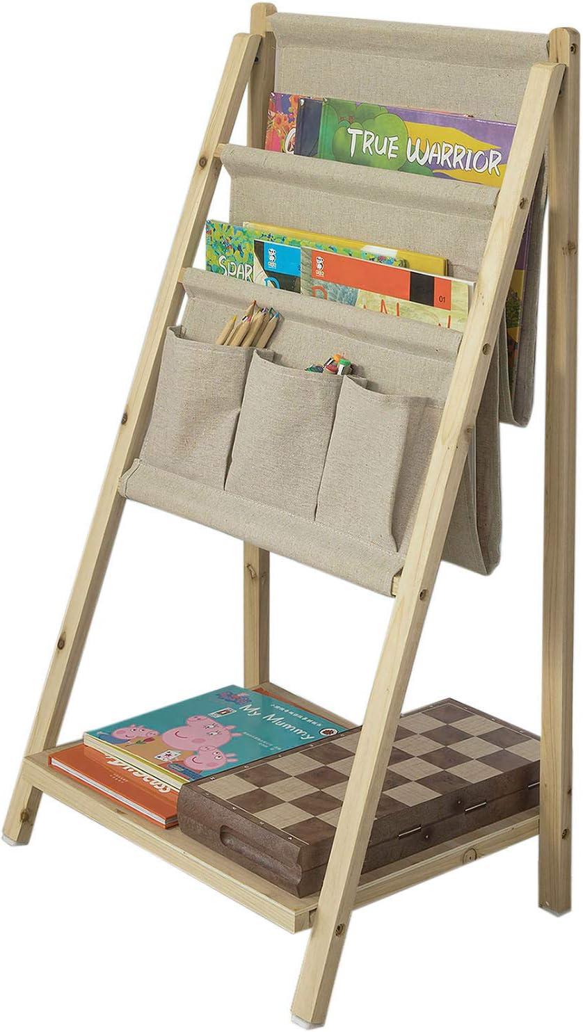 SoBuy® Librería Infantil Plegable con 3 Estanterías,Estantería Escalera,H78cm,FRG276-N,ES: Amazon.es: Hogar