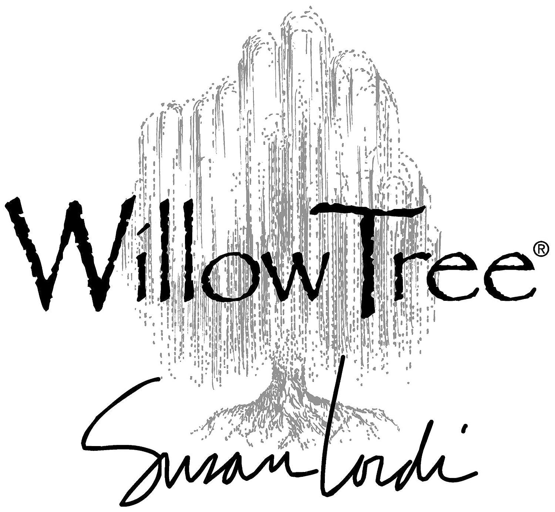 Resina Willow Tree Figurillas Decorativas con dise/ño 14 x 1.1 cm