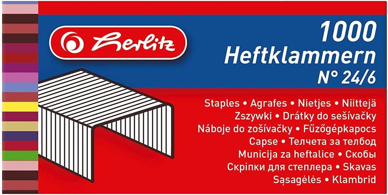1 St/ück schwarz//hellgrau Ergonomische Heftzange No.24//6