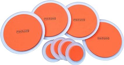 Medipaq – Discos para desplazar muebles pesados, color naranja Estupendo juego de 8 alfombrillas.
