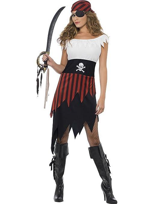 Smiffys Disfraz de Pirata para Mujer, tamaño pequeño y Mediano ...