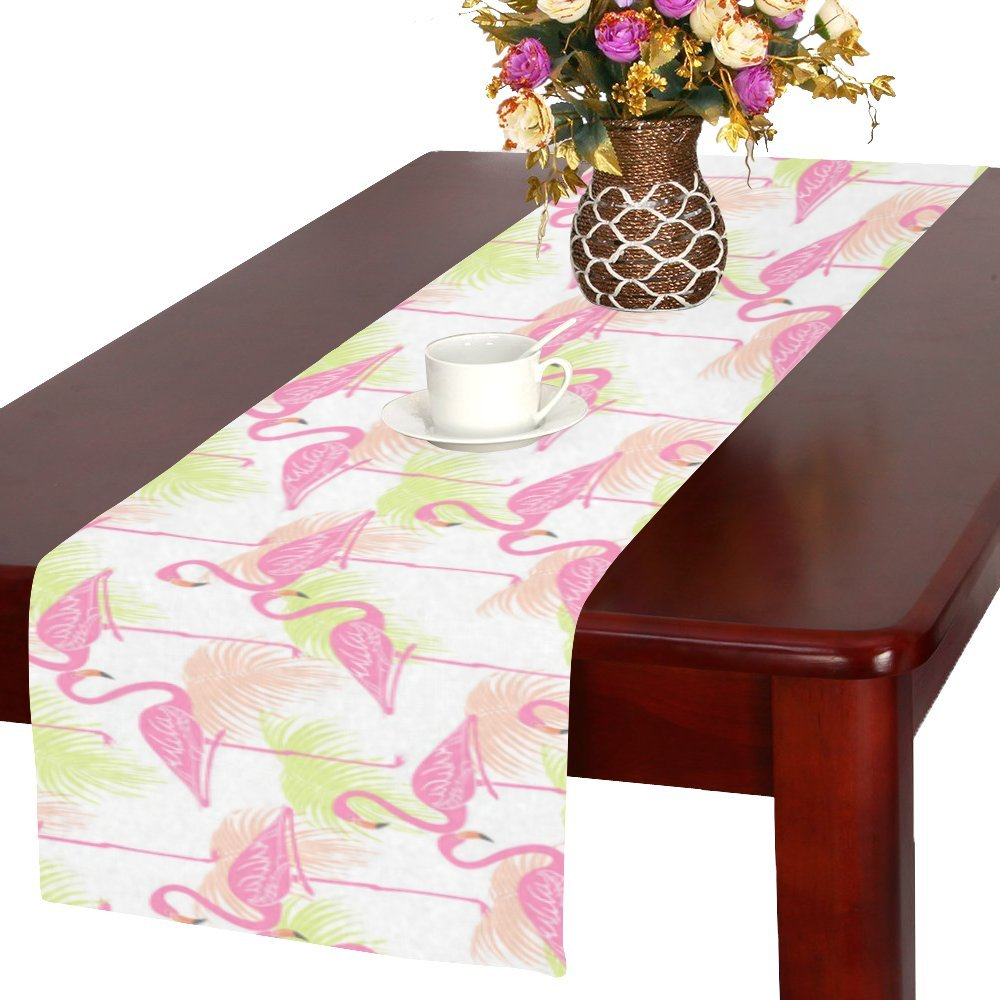 Flamingos Cotton Linen Placemat Table Runner 16'' x 72''