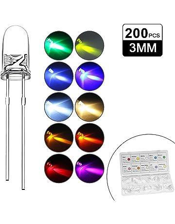25 pezzi LED 3mm rosso diffuso SUPER MARRONE