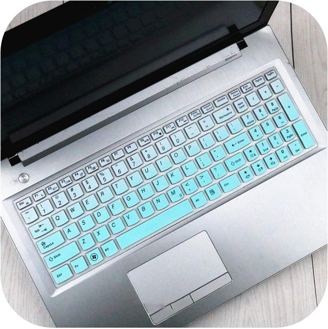 2020 Silicone Keyboard Cover Protector Skin for Lenovo Ideapad Y580 Y570 Y570D Y500 Y510 Y510P Z580 Z560 Z565 Z570 Z575 Laptop-Gradualskyblue