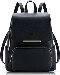 54822558d1 Zaino Donna, COOFIT Borsa Zainetto Donna Universita Elegante Backpack  Ragazze (Nero)