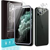 [3+3 Pack] LϟK for 3 Pack iPhone 11 Pro Max Screen Protector with 3 Pack Camera Lens Protector, 6.5 inch [Tempered Glass] [Ea