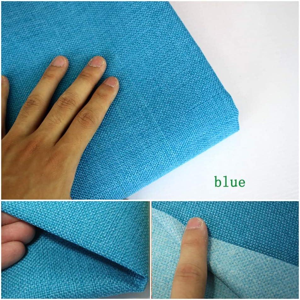 LIJINGYU Lino Puro Tela de Lino Natural - Tela por Metros de Cortina - Lino - Visillo Tejido Natural,Azul (Size : 1.45×25m): Amazon.es: Hogar