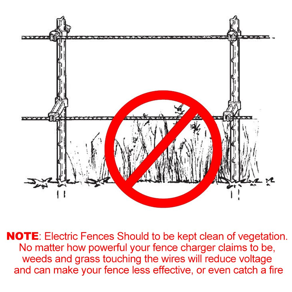 Farmily Portable Electric Fence Polywire Easy To Wire Diagram Install Repair Splice And Rewind Garden Outdoor