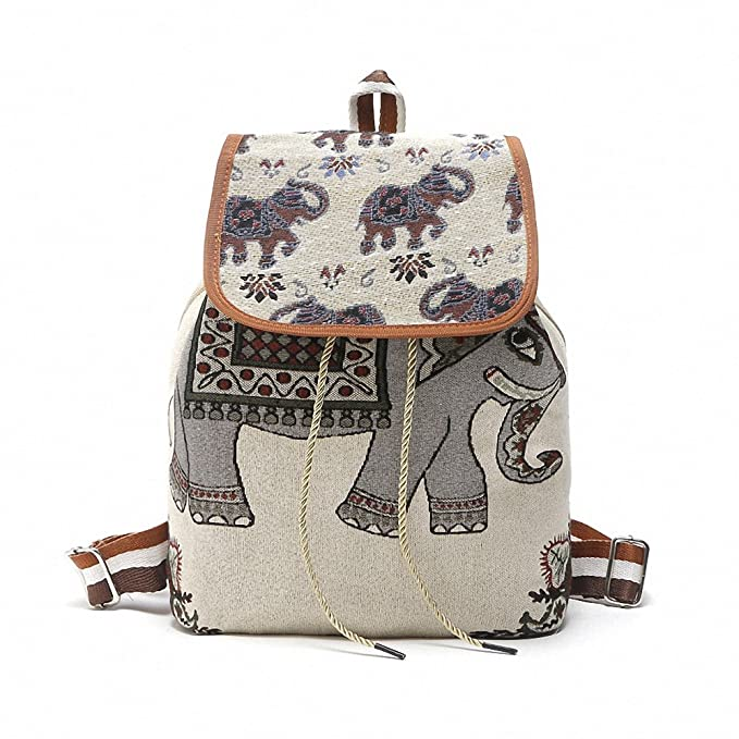 67efc041639e Image Unavailable. Image not available for. Color  Vintage Classic Owl Printing  Canvas Backpack