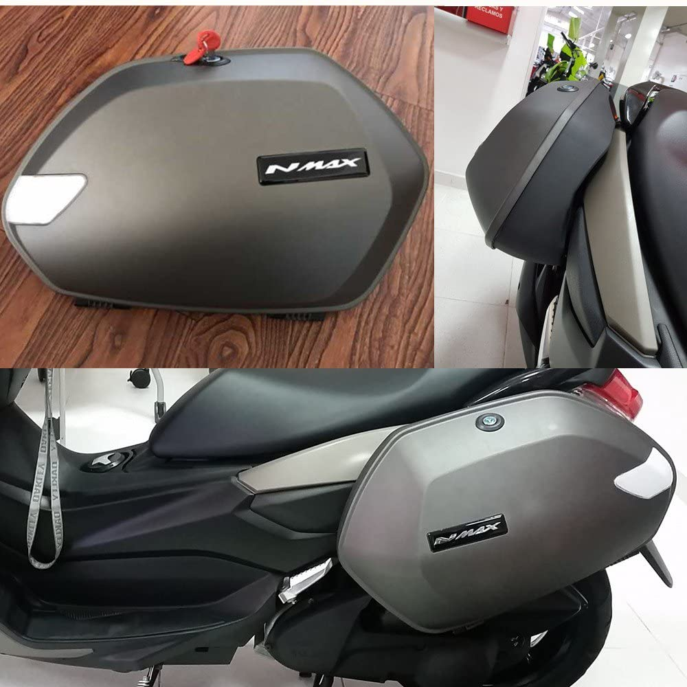 Motorcycle Abs Plastics Led Grey Trunk Side Edge Case For Yamaha Nmax 155 Nmax150 125 Auto