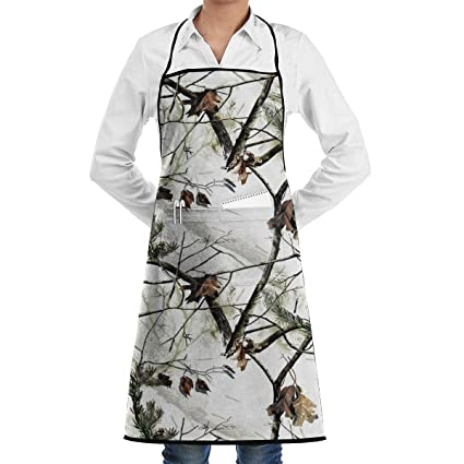 24d2fa332d14c White Realtree Camo Bib Apron Chef Apron - with Pockets for Male and  Female,Waterproof