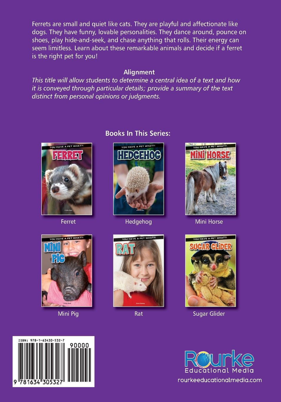 Ferret (You Have a Pet What?!): Cristie Reed: 9781634305327: Amazon.com:  Books