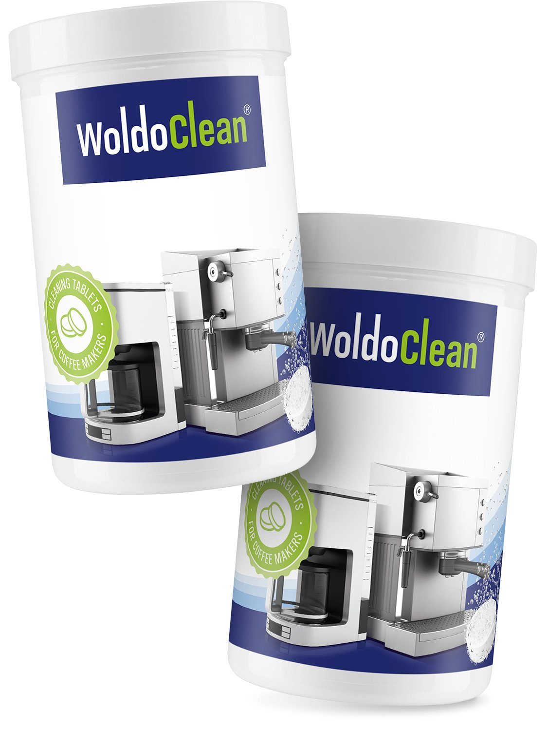 Cleaning Tablets for Coffee and Espresso Machine - Pack of 2X 150, Cleaner Suitable for Automatic Coffee Makers and Capsule Machines WoldoClean