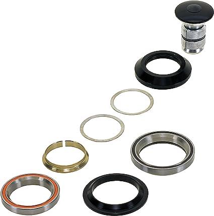 NECO Semi-Integrated Half Cartridge Threadless//Tapered 1.1//8-1.5 Aluminum//Steel Head Set