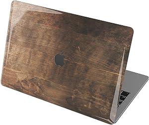 "Vonna Hard Shell Case for Apple MacBook Pro 16"" 2019 Pro 13"" 2020 Retina 15"" Air 13"" 2018 Mac Air 11"" Mac 12"" Beige Wood Vintage Texture Touch Bar Plastic Black Cover Design Old Planks Print t0254"