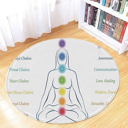 Amazon.com : TecBillion Yoga Modern Round Carpet, Seven Main ...