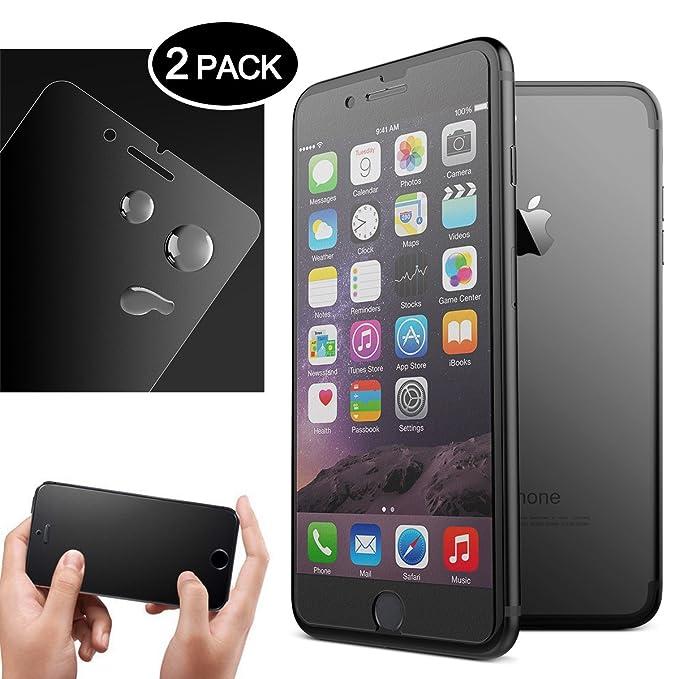 19 opinioni per Dexnor [2 Pack] Vetro Temperato per iPhone 7 Plus 8 Plus Matte Opaca Pellicola