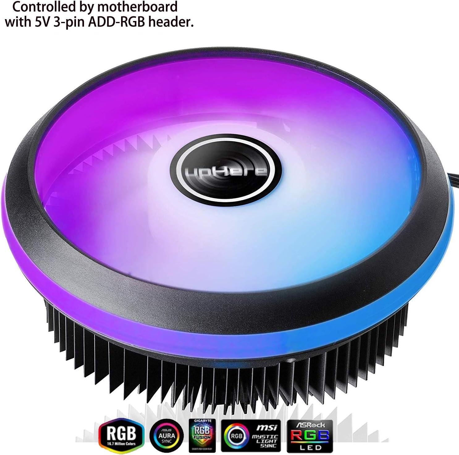 upHere PWM LED ARGB 120mm Ventilador de CPU para Intel (ACC92RGB)