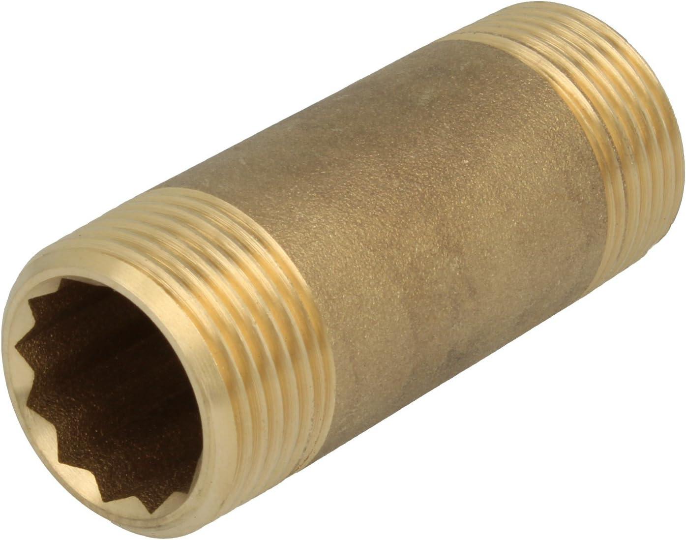 """Rohrnippel Rotguss Langnippel Rohrdoppelnippel Doppelnippel Fitting 1/""""x 40mm"""