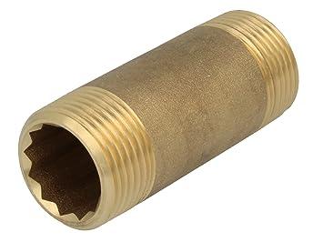 Messing Doppelnippel Rohrdoppelnippel 1 80mm