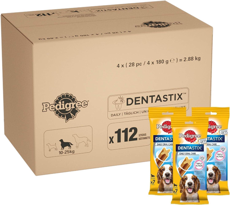 112 sticks dentales para perros Pedigree Dentastix por 20,99€