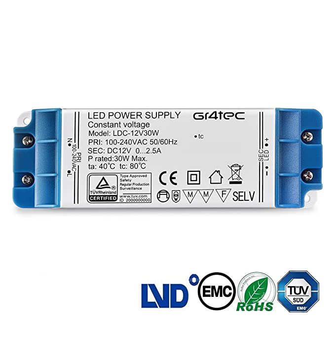 13 opinioni per LED Trasformatore Gr4tec Transformer LED DC 12V Driver Power Supply