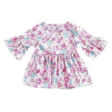 erthome - Falda de bebé para niños, Vestido de Campana, Estampado ...