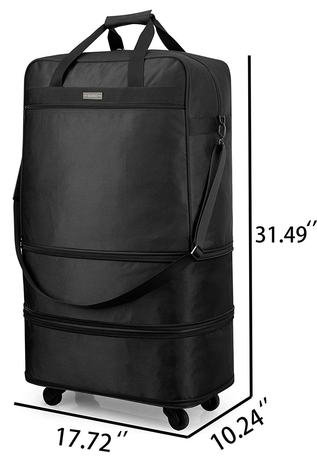 Hanke Expandable Foldable Suitcase Luggage Rolling Travel Bag Duffel Tote  Bag for Men Women Lightweight Carry-on Suitcase Large Capacity Spinner  Luggage ... 690155a7d2110