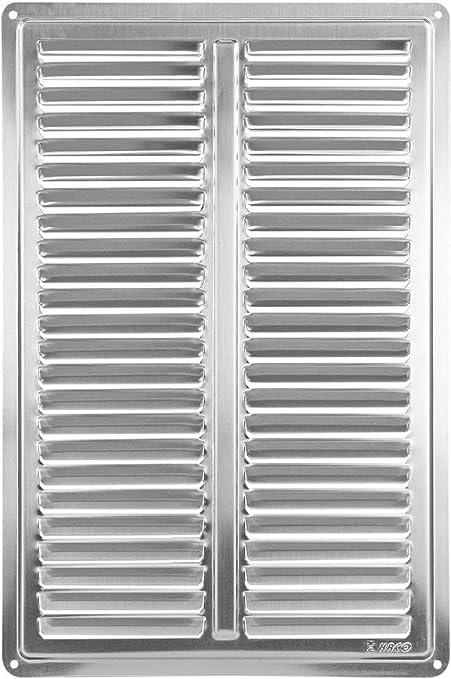 Haco - Rejilla de ventilación (acero inoxidable, 205 x 305 ...