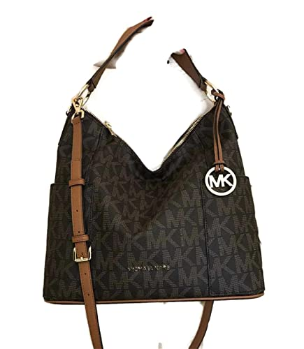 Michael Kors Anita Large Convertible Shoulder Bag (Brown ...